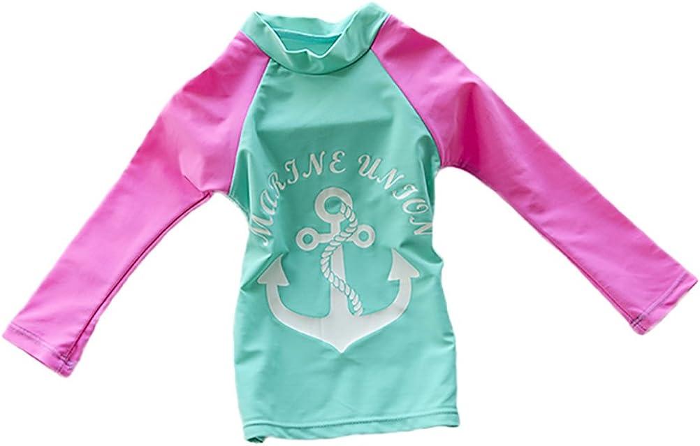 KIDVOVOU Girls Rashguard Set Two Pieces Swimsuit UV Sun Protection Suit Swimwear