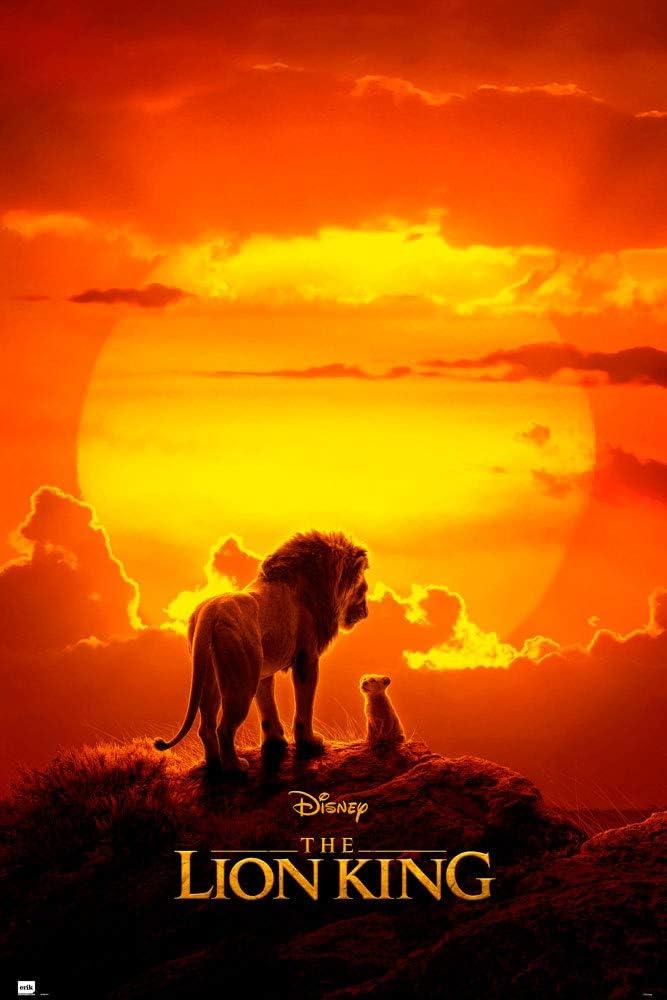 61 x 91,5 cm Disney Le Roi Lion Affiche Grupo Erik Poster et Kit de Fixation