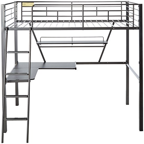 c2903b7aec90 ACME Senon Silver and Black Loft Bed with Desk by Acme Furniture (Image #2