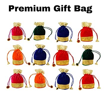 Image of Amba Handicraft Pouches/Drawstring poches/Coin Purse/Gift Bag/Wedding Pouch/Baby Shower Bags/Jewellery Bag/ AHGB015