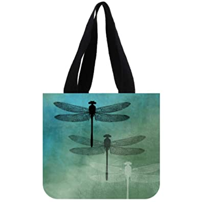 Amazon.com: Bolso de lona con diseño de libélulas, bolsa de ...