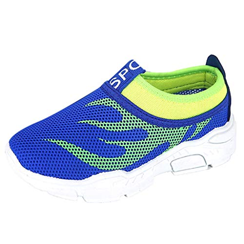 Tantisy ♣↭♣ Toddler Kids Water Shoes Breathable Mesh Running Sneakers Sandals for Boys Girls Running Pool Beach Blue ()