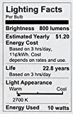 Philips LED Dimmable A19 Soft White Light Bulb with Warm Glow Effect 800-Lumen, 2700-2200-Kelvin, 9.5-Watt (60-Watt Equivalent), E26 Base, Frosted, 6-Pack