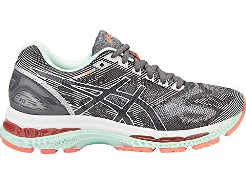 mbus 19 Running Shoe, Carbon/White/Flash Coral, 7 D US ()