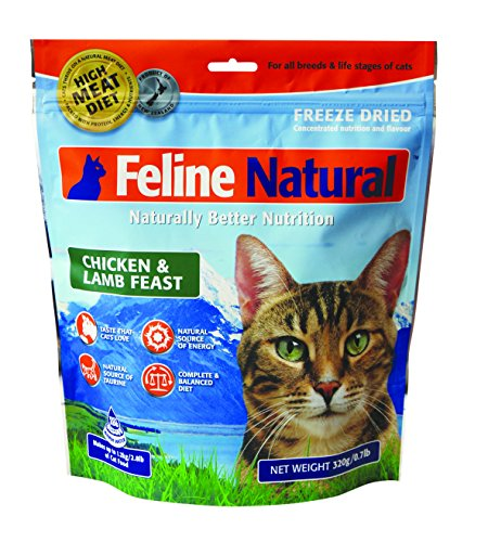 K9 Feline Natural Chicken & Lamb Feast ze Dried Raw Cat Food 0.77-lb bag by K9 Natural