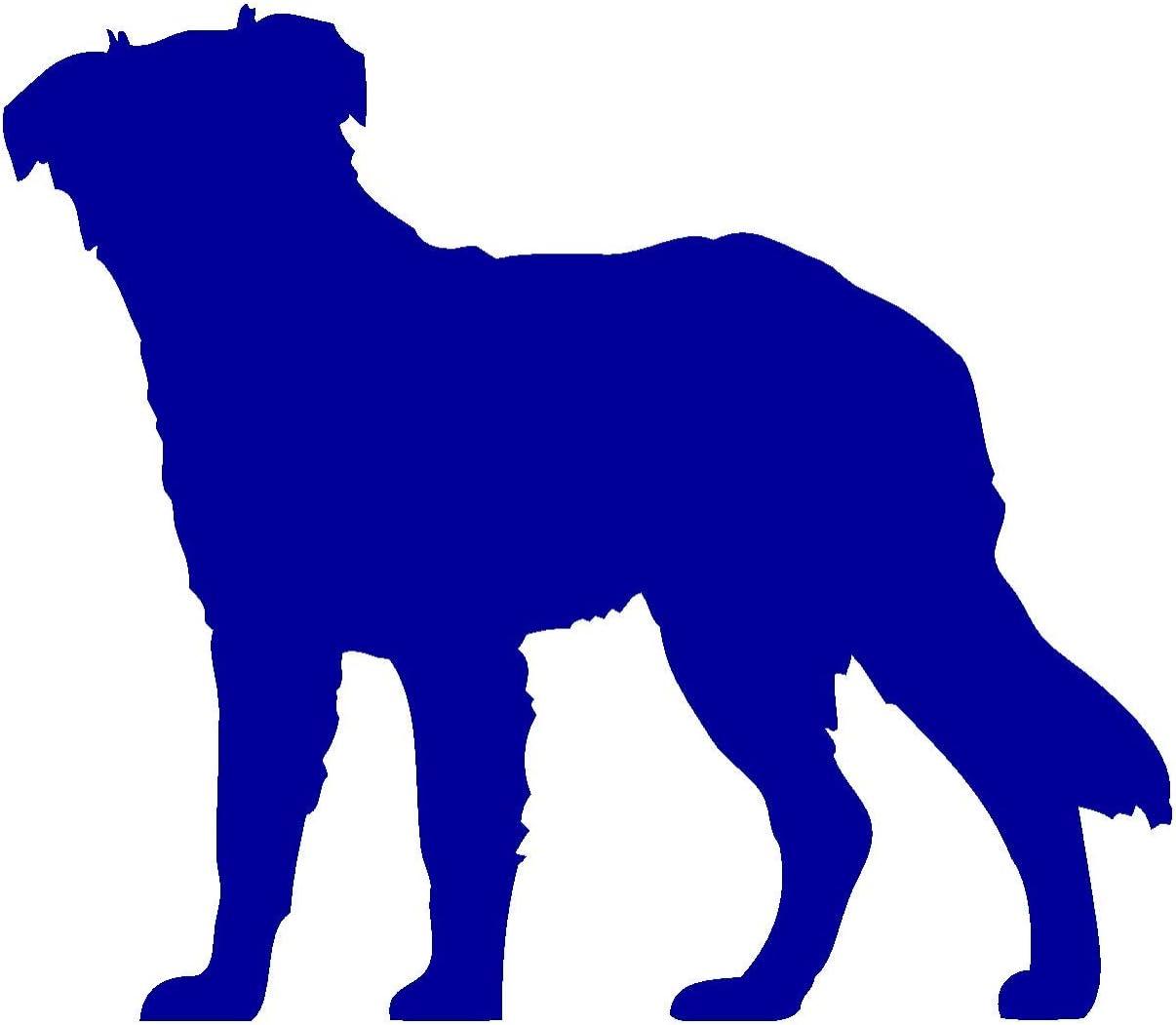 Samunshi Australian Shepherd Hunde Aufkleber Autoaufkleber Sticker In 6 Größen Und 25 Farben 30x26cm Brillantblau Küche Haushalt