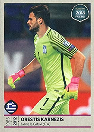 ... authentic ebbaa cd3e8 2017 Panini Road to 2018 FIFA World Cup Russia  113 Orestis Karnezis Greece ... 5c94f0202