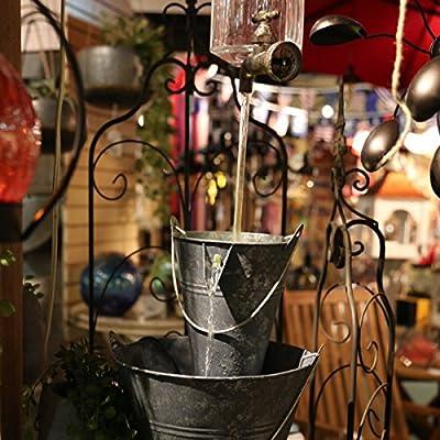"GIL 23.6"" Electric Bucket Fountain Spring 10.63InL x 9.84InW x 19InH Silver"