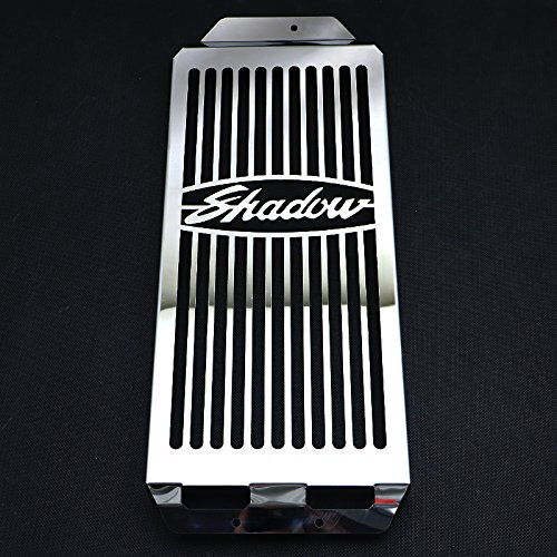 Motorparty Radiator Grill Cover Water Tank Grille Guard Protector For Honda Shadow Aero VT750 2004-2013 VT 750 C2 Spirit 2007-2009,Stainless Steel,Shadow Pattern ()