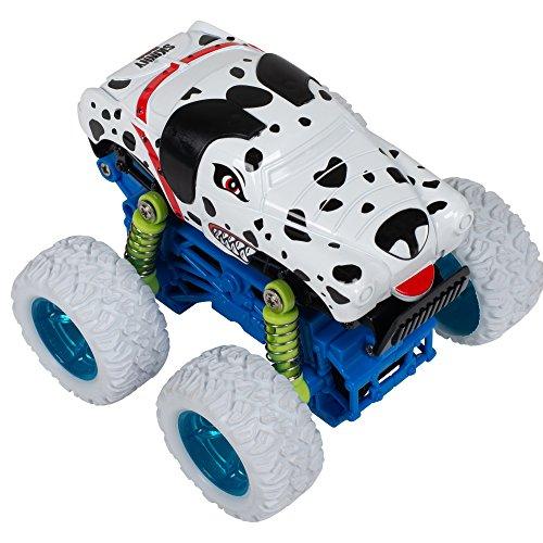 Master Toys & Novelties Skinny Dog Mini Quad Racer White/Blue 4WD 4x4 S Plus Plastic 3.5 x 3 Inch Monster Rally Car Toy