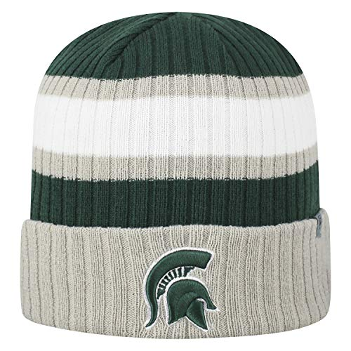 Top of the World NCAA Sub-Zero Cuffed Knit Beanie Hat-Michigan State Spartans (Michigan State Stocking Cap)