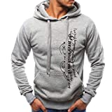 Hoodies for Men, Corriee Mens Casual Letter Print Pullover Hooded Tracksuits Autumn Winter Long Sleeve Sweatshirts