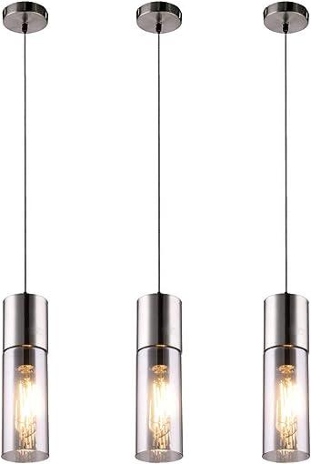 Design Glas Hänge Decken Lampe Pendel Leuchte schwarz Wohn Zimmer KRONLEUCHTER