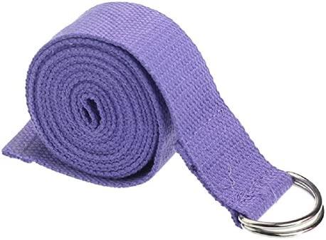 Yoga Cinturon - TOOGOO(R)moda accesorio de Yoga Cintura Pierna fitness ajustable 180CM Correa entrenamiento estiramiento D-Ring algodon hebilla de ...