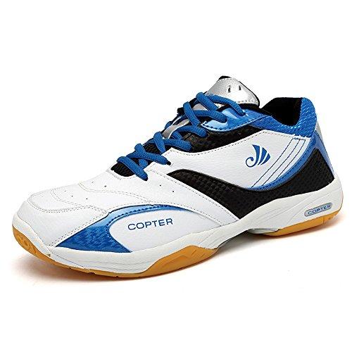 COPTER Men's Sneakers Indoor Cross Trainer Shoes Good for(Tennis/Badminton/Racquetball) (US-10, Blue)