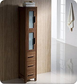 Amazon Com Fresca Fst6260wb Torino Tall Bathroom Linen Side Cabinet In Walnut Brown Home Improvement