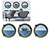 3 Pcs Wall Stickers Aircraft Carrier Removable Home Decor Wall Decals for Living Room Bedroom
