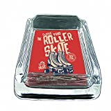 youre a good skate - Glass Square Ashtray for outdoor With Four Places to Drop Your Cigarette| Thick and Transparent Glass Tray |Glass Ashtray Stand |Glass Ashtray Set| Glass Ashtray for Home| Roller Skate
