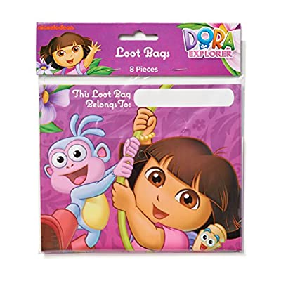 Folded Plastic Loot Bags | Dora's Flower Adventure Collection | Party Accessory: Toys & Games