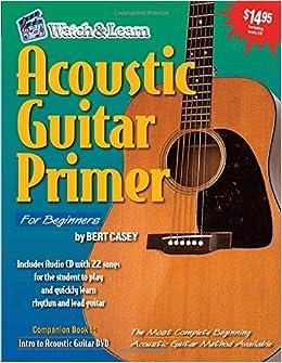 acoustic guitar primer for beginners book cd rom