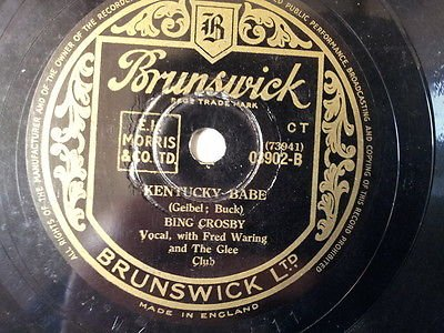 78 rpm 10 quot bing crosby kentucky babe whittenpoof song