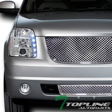 Chrome Luxury Style Mesh Front Lower Bumper Grill Grille Abs Yukon Denali
