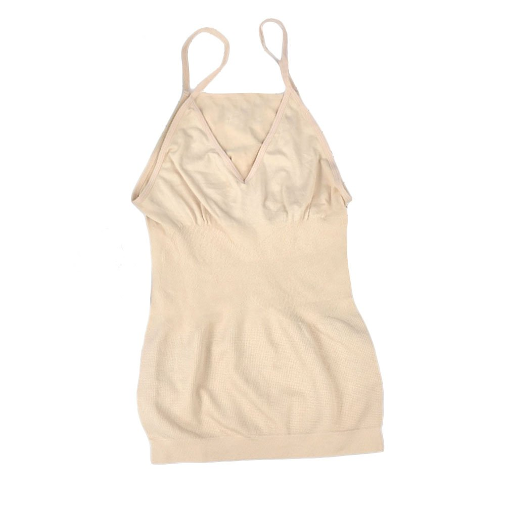 Seamless Body Shaper Vest, Women Ladies Slimming Tummy Control Breathable Invisible Stretch Top Vest (L,Beige) UxradG