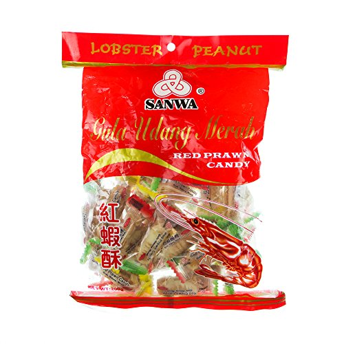 Sanwa Lobster Peanut Red Prawn Candy/Tasty Peanut Filling/Iconic