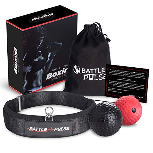 BattlePulse Reflex Ball | Premium Multilayer Soft Headband Boxing Ball | Reflex Speed Ball with 2 Difficulty Level Punching Ball | 360-Degree Buckle | Hand Eye Coordination Training Headset ()
