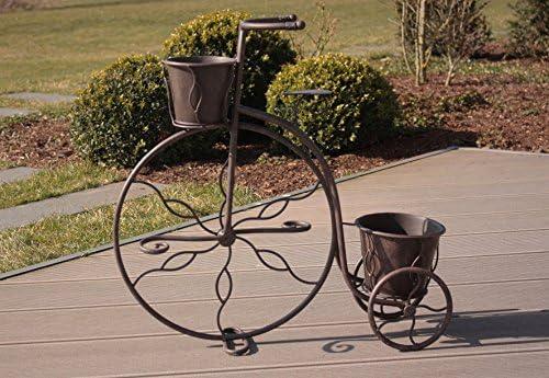 2 pieza Macetero bicicleta soporte metal oxidado Colores Jardín ...