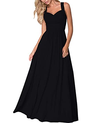 508c9d5df947 Roiii Women's V-Neck Chiffon Lace Formal Casual Party Wedding Evening Prom  Gown Dress Cleb