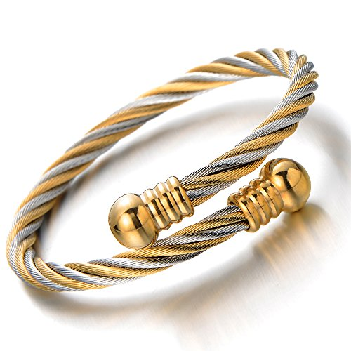 Elastic Adjustable Twisted Bangle Bracelet