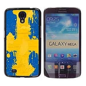 - Sweden flag - - Slim Guard Armor Phone Case FOR Samsung Galaxy Mega 6.3 i9200 i9208 Devil Case