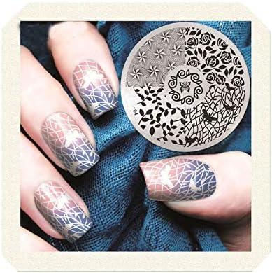 Amazon Com 2019 Design Image Polish Printing Nail Stamping Plates