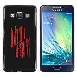 A-type Arte & diseño plástico duro Fundas Cover Cubre Hard Case Cover para Samsung Galaxy A3 (Red Bamboo)