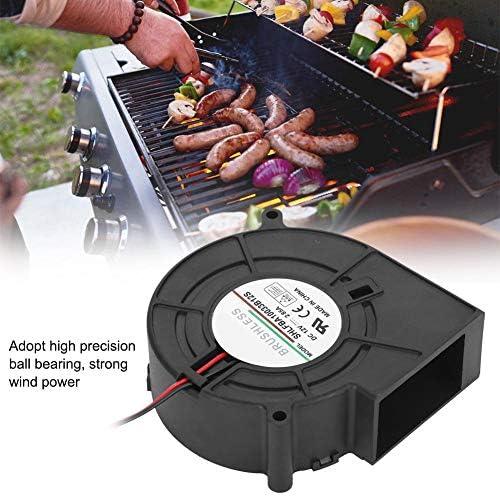 Ventilateur de Ventilateur de Barbecue, 12V 2.85A Ventilateur de Ventilateur de Barbecue pour Barbecue Pique-Nique Camping Feu Charbon de Bois démarreur