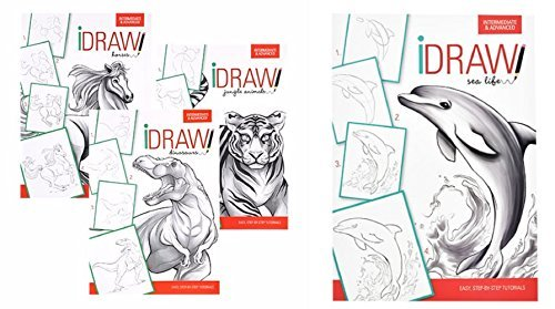 iDraw Learn To Draw Instructional Step-by-Step Tutorial Books, 4-bk Set by The Clever Factory