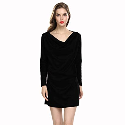d6c55b7c Image Unavailable. Image not available for. Color: Women Dress Long Sleeve  Slim Fit Work Wear Office Sheath Bodycon Pocket Dress Fashion ...