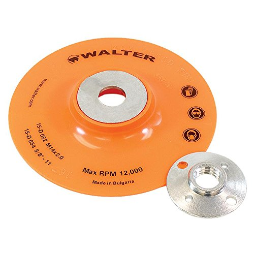 Walter Surface Technologies 15D054 Backing Pad Assemblies- Round Hole Fastening Flexible Backing Pad. Sanding Accessories