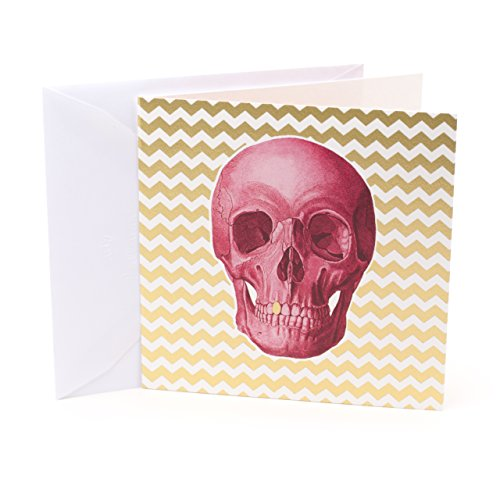 Hallmark Studio Ink Birthday Card (Pink Skull)