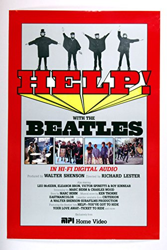 The Beatles Help 1987 Home Video Release Promotion Poster
