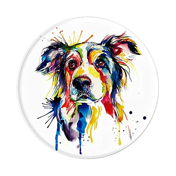 Border Collie Art Funny Dog Breed Mobile Accessory Gift Kids 3