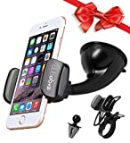 Car Phone Holder by E+Go Grip Universal Dashboard Phone Mount, Windshield Vent Phone Holder and Bicycle Smart Phone Mount, Cell Phone Holders Set for iPhone 8/7/7Plus/6s/6Plus, Galaxy S6/S7/S