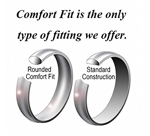 Crownal 4mm 6mm 8mm 10mm Black Tungsten Wedding Band Ring Men Women Beveled edges Polished Grooved Center Comfort Fit Size 4 To 17 (6mm,10) by CROWNAL (Image #3)