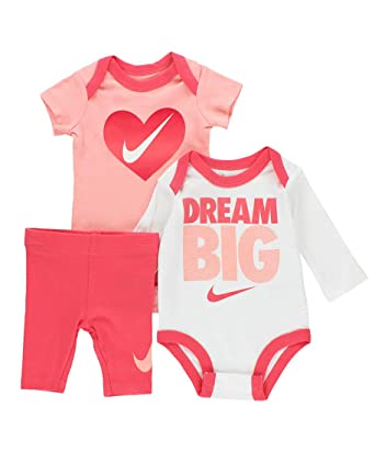 727b14e245 Amazon.com: Nike Jordan Infant Newborn Baby 2 Bodysuits and 1 Pants 3  Pieces Layette Set: Clothing