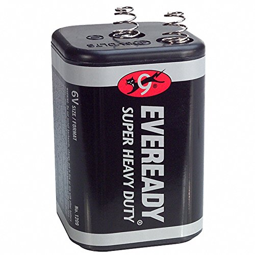 1 Piece - Eveready 1209 Super Heavy Duty 6 Volt Spring Top Lantern ()