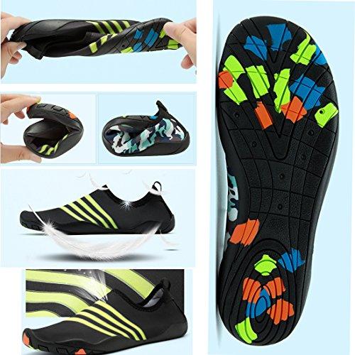 Cool&D Aquaschuhe Aqua Schuhe Wasserschuhe Atmungsaktiv Strandschuhe Schwimmschuhe Badeschuhe Surfschuhe für Damen Herren Kinder Blau
