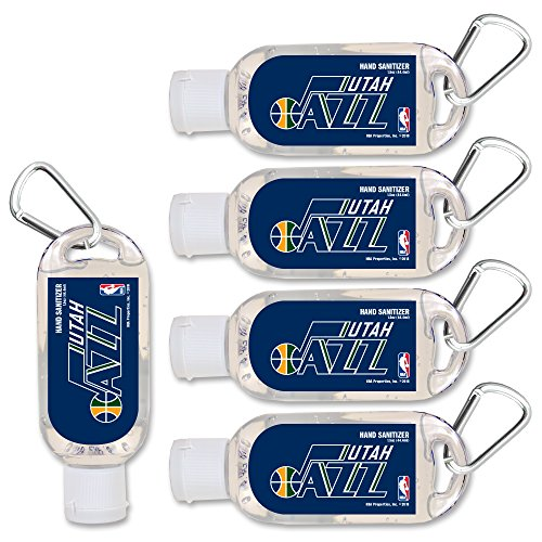 anitizer with Clip, 5-Pack. Moisturizers Aloe Vera and Vitamin E. (1.5 oz Containers) NBA Gifts for Men and Women, Christmas Stocking Stuffers ()