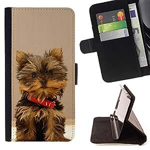 Stuss Case / Funda Carcasa PU de Cuero - Yorkshire Terrier Peque?o perro de perrito - MOTOROLA MOTO X PLAY XT1562