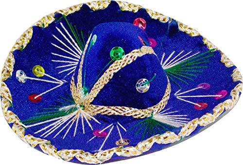 6 inch Mexican Decorative Mini Charro Sombrero, One Mini Mariachi hat (6